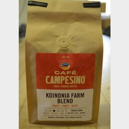 Koinonia Farm Blend Fair Trade Coffee by Cafe Campesino 1 lb bag whole bean Thumbnail