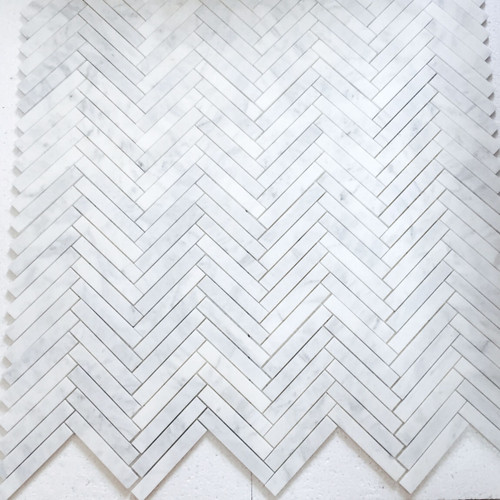 1x6 Herringbone Mosaic Tile Polished