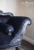 PRE ORDER: Colonial Double Ended Chaise Longue - black