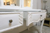 PRE ORDER: French Triple Mirror Dressing Table - white
