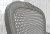 PRE ORDER: Carved armchair with rattan - white