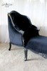 PRE ORDER: High Back Single Ended Chaise Longue - black
