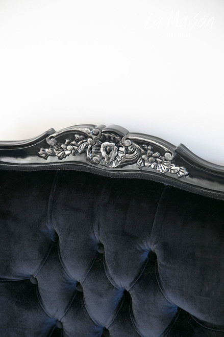 PRE ORDER: Wingback - black with silver