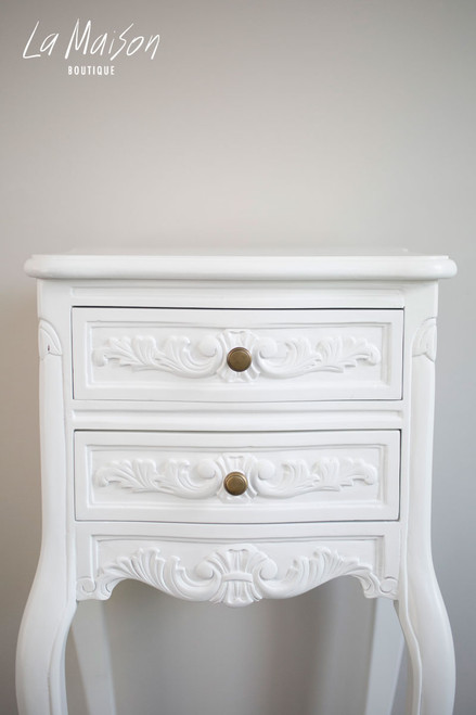PRE ORDER NOW: Bedside table - pure white