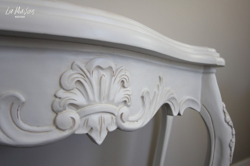 PRE ORDER: Serpentine Wall Table - Antique White