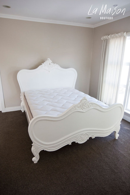IN STOCK NOW: Provençal Classic Bed - Queen size antique white