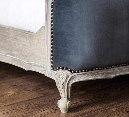PRE ORDER: French upholstered round end bed
