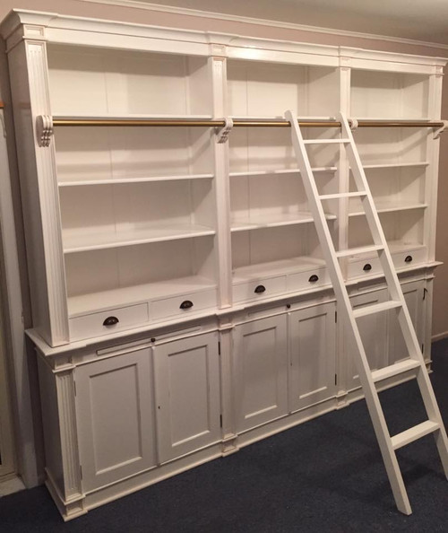 Library cabinet with ladder
