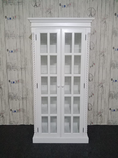 PRE ORDER: Cabinet with glass doors - square