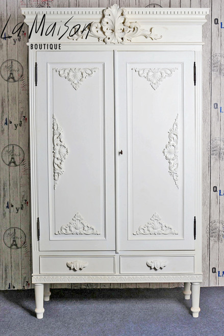 PRE ORDER: Two door Armoire - plain white