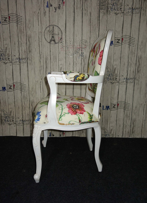 PRE ORDER: Floral carved armchair - Floral Imperialis Acrylic