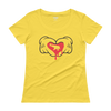 Dripping Heart for Elephant-Ladies' Scoopneck T-Shirt - Yellow Zest