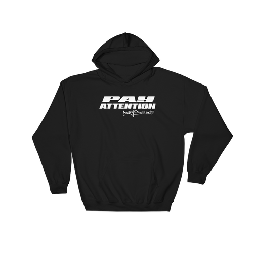 Angry Elephant Pay Attention Hoodie - Black/White