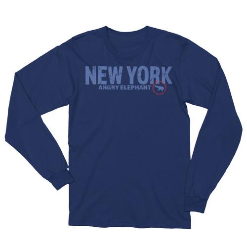 NEW YORK CIRCLE. Unisex Long Sleeve T-Shirt