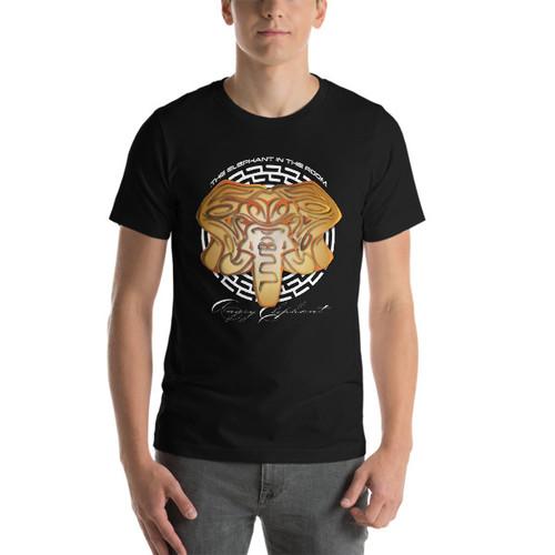 Gold Tribal Head Short-Sleeve Unisex T-Shirt