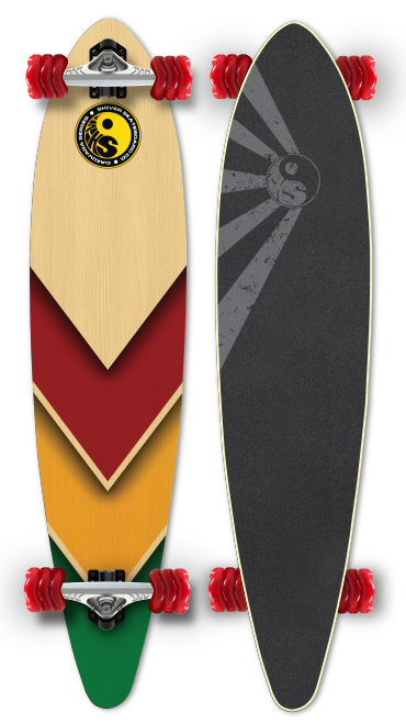 Shiver RASTA ARROW  Pintail with 70mm Shark Wheels