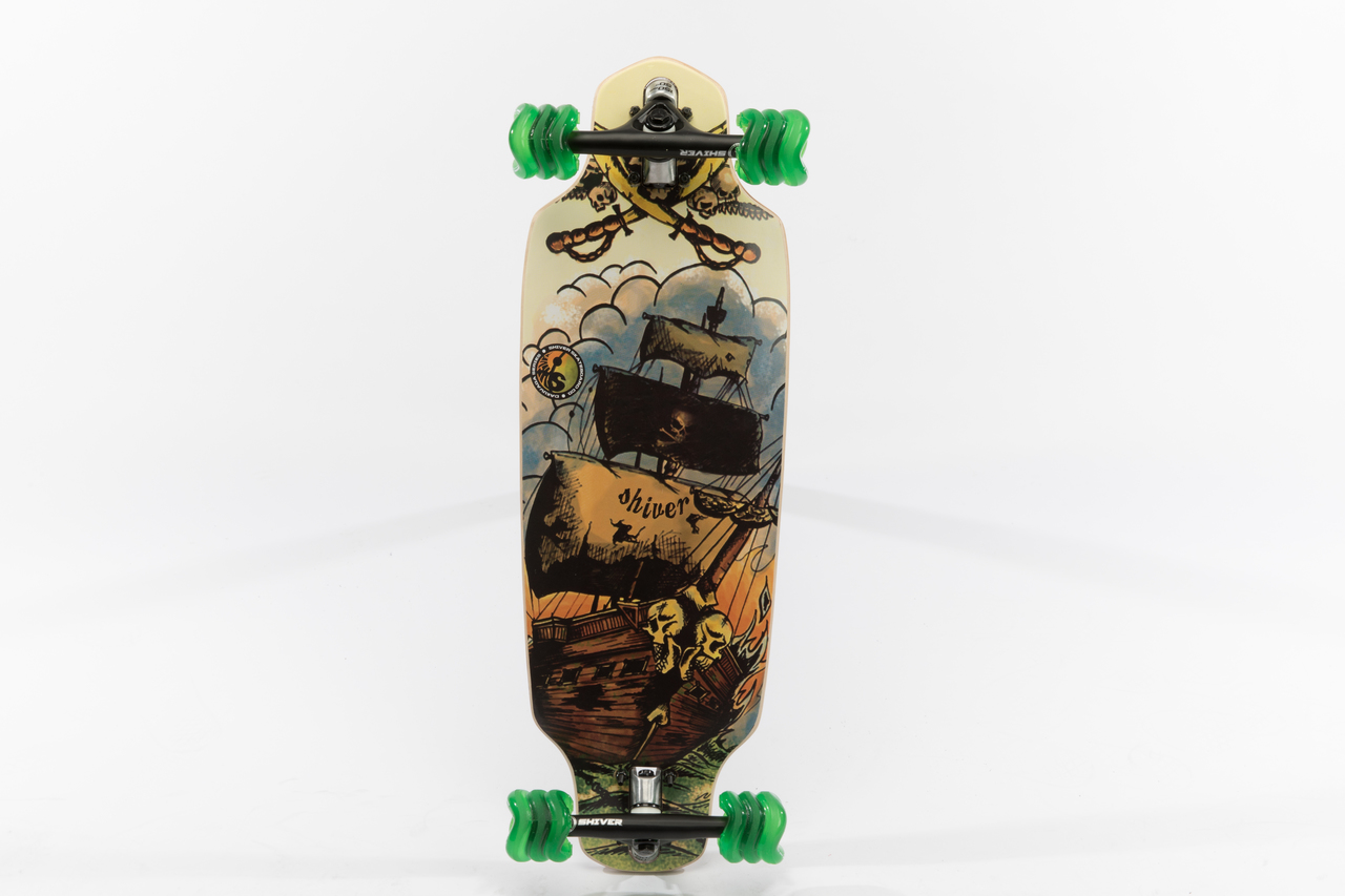 Shiver GHOST SHIP Mini Drop Through with 60mm Shark Wheels