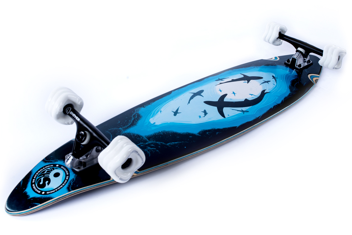 Shiver FRENZY Pintail with 70mm Shark Wheels