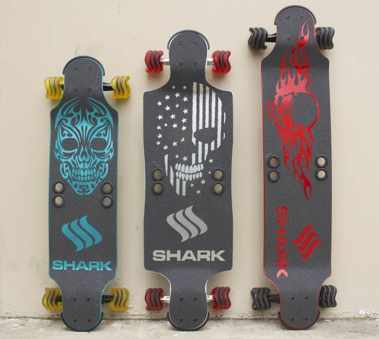 """""""Shark"""" Aluminum 35"""" Black Drop Down"""