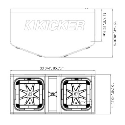 Kicker q class dl712 dual kicker l7 12 inch subwoofers in vented frequency response hz 20 100 publicscrutiny Choice Image