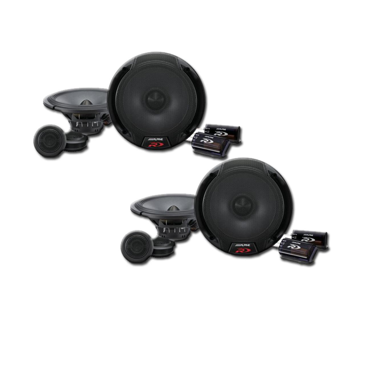 alpine spr 60c 6 1 2 component 2 way speaker system bundle rh creativeaudio net