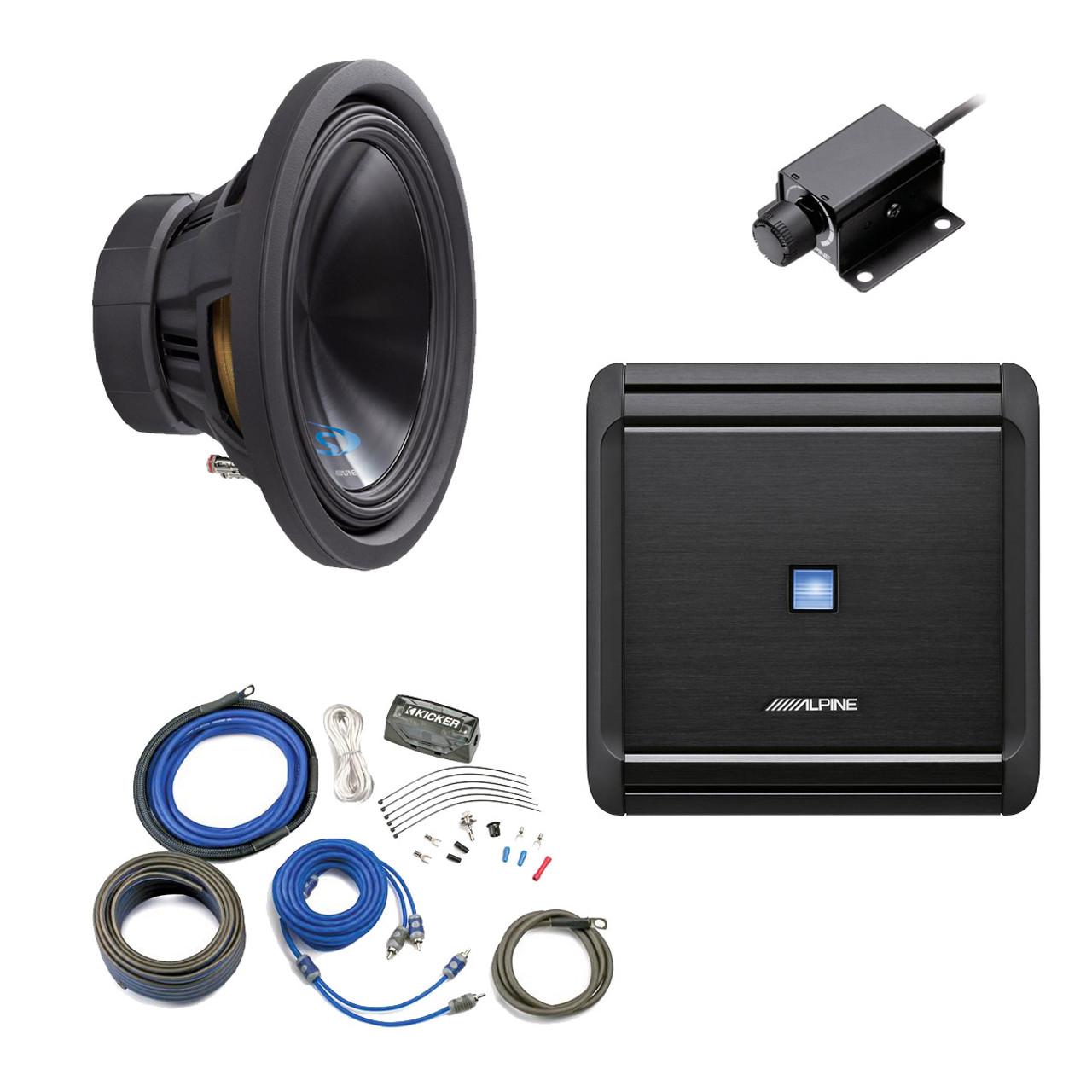 Alpine Bass Package Type S 12 Subwoofer Mrv M500 500 Watt Amp 10 Single Car Box 1200w Amplifier Wiring Kit Knob And Creative Audio