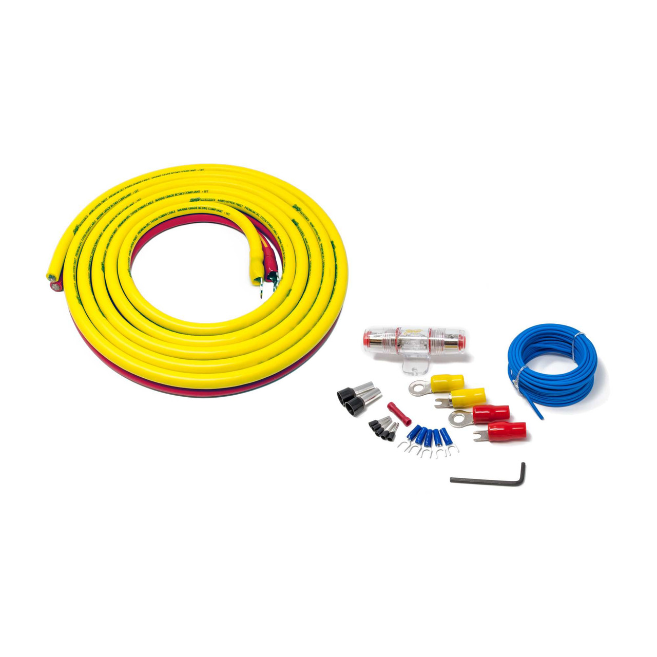 Stinger SEA4243 Marine Complete Amplifier Installation Kit 3-Meters ...