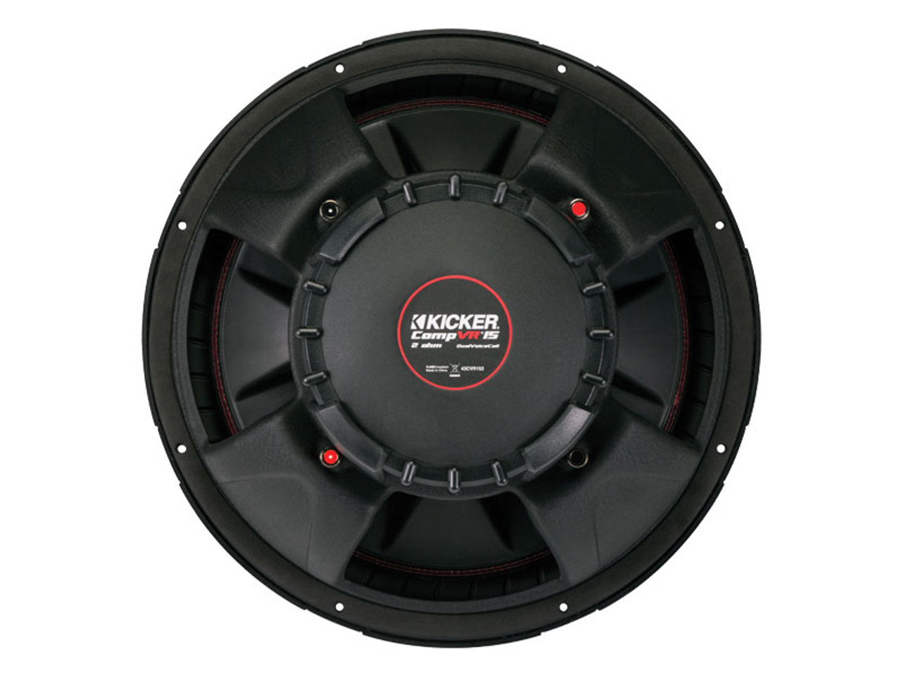 Kicker CompVR 15-Inch (38cm) Subwoofer, DVC, 2-Ohm, 500W - Creative ...