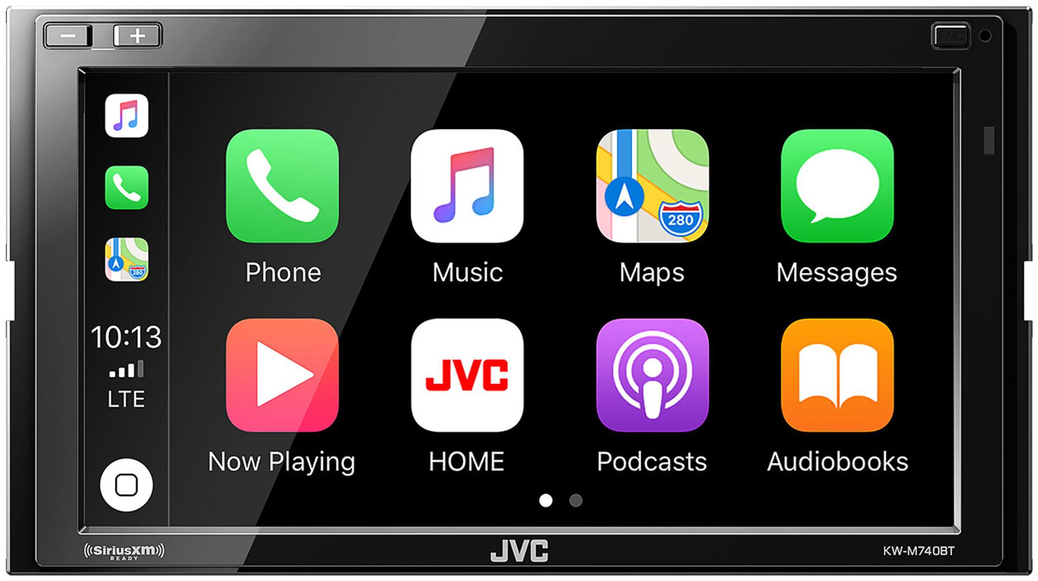 Jvc Kw M740bt Apple Carplay Android Auto 2 Din Av Receiver No Cd