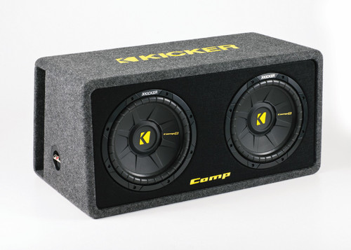 Kicker CompS 10 Inch Dual Loaded Enclosure 40DCWS102
