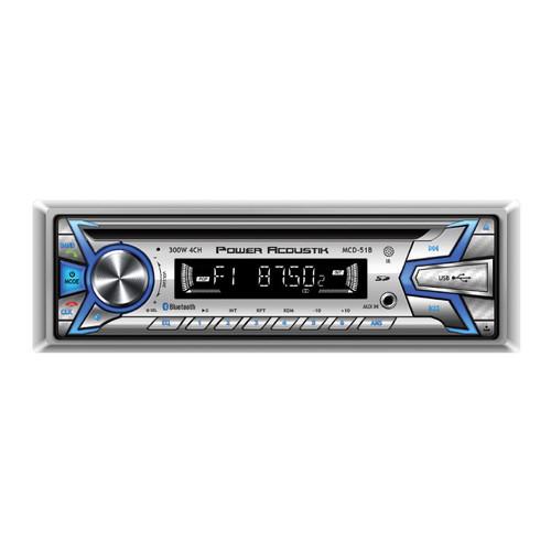 Power Acoustik Marine MCD-51B 1‐DIN CD/MP3 Receiver w/ AM/FM, 32GB USB, AUX & BT