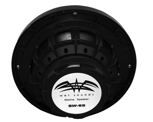 "Wet Sounds Bundle: Four pairs of SW-65i Series Black Grill 6.5"" Speakers. 60 Watts RMS Each"