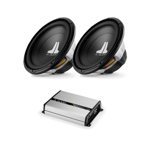 JL Audio (2) 15w0v3-4  with JX1000/1D Bass Package