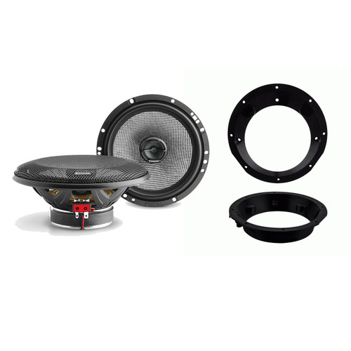 "Focal 165AC 6.5"" Speakers For Harley Davidson 1998-2013 Batwing/Sharkwing Fairings (Adapters included)"