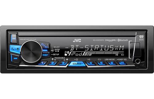 JVC KD-X320BTS Refurbished Single DIN Bluetooth In-Dash Digital Media Receiver w/ Pandora & SiriusXM Ready