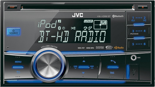 JVC KW-HDR81BT Refurbished Double-Din Bluetooth Car Stereo w/ USB iPod Connection, HD Radio & Pandora Control