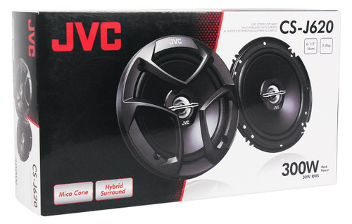 "JVC CSJ620 6.5"" Car Audio 2-WAY Coaxial Speakers System (Pair)"