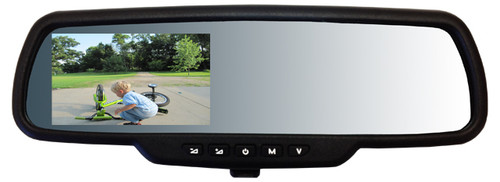 "Video Rear View Mirror Intraphex TD-CTMD43 Mirror 4.3"" Capacitive Touch Screen"