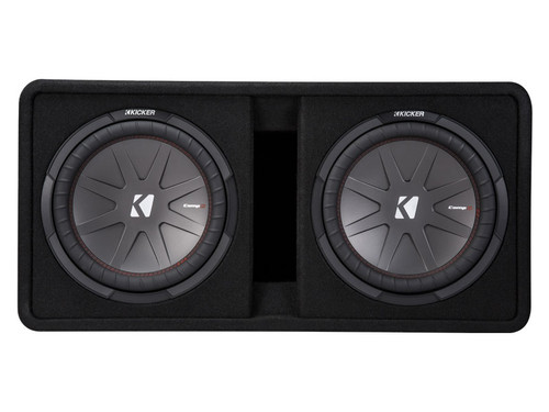Kicker CompR12 Dual 12-inch (30cm) Subwoofers in Vented Enclosure, 2-Ohm, 1000W