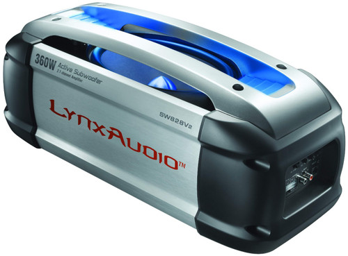 200 Watt Amplified Subwoofer by Lynx Audio - Contains A Built In 160 Watt 2-Channel Class D Amplifier For Door Sepakers