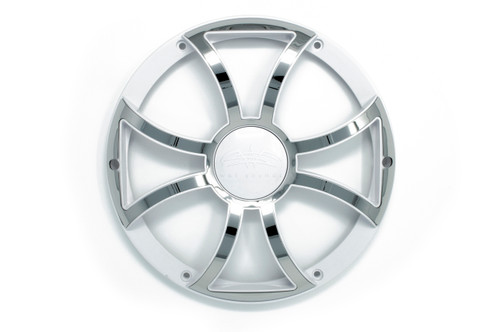 Wet Sounds REVO 12 XS-W-SS GRILL White w/ Stainless XS Open Style Grill for the REVO 12 Inch LED Marine Subwoofer