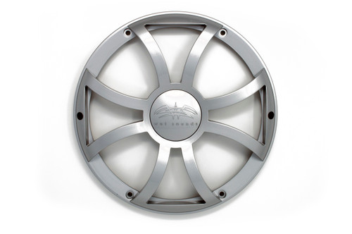 Wet Sounds REVO 12 XS-S GRILL Silver XS Open Style Grill for the REVO 12 Inch LED Marine Subwoofer