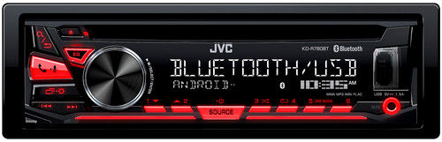 JVC KD-R780BT Refurbished 1-DIN CD Receiver with Bluetooth and JVC App Remote