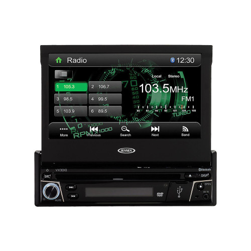 Jensen Refurbished VX-3010 7-Inch 1DIN Multimedia Receiver with Built-In Bluetooth