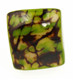 Eco-Chic Tagua Nut Marble Ring - Green