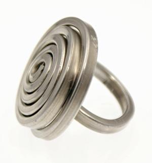 Recycled Aluminum Ring - Circle