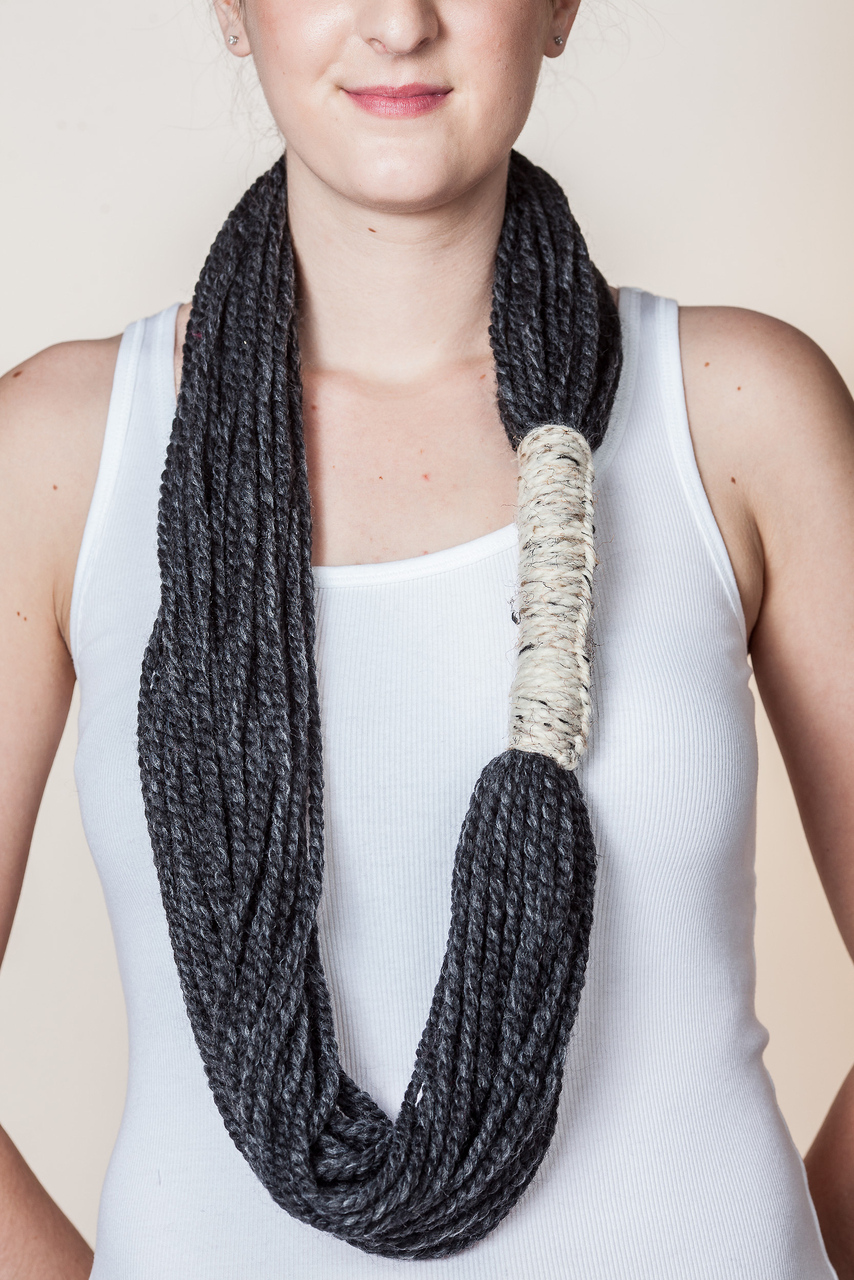 Bora Scarf - Charcoal Grey