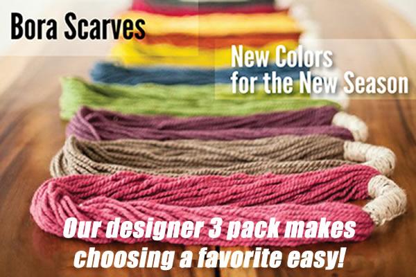 Bora Scarf - Designer Three Pack - FREE DELIVERY