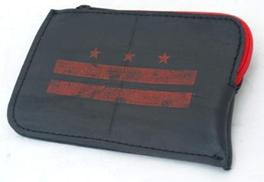 Perno Coin Purse - Red DC Flag  SilkScreen