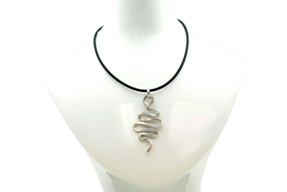 Snake Spiral Pendant - Aluminum